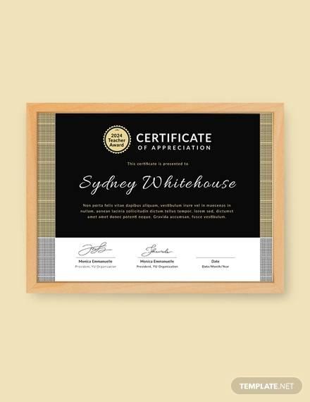 free teacher appreciation certificate