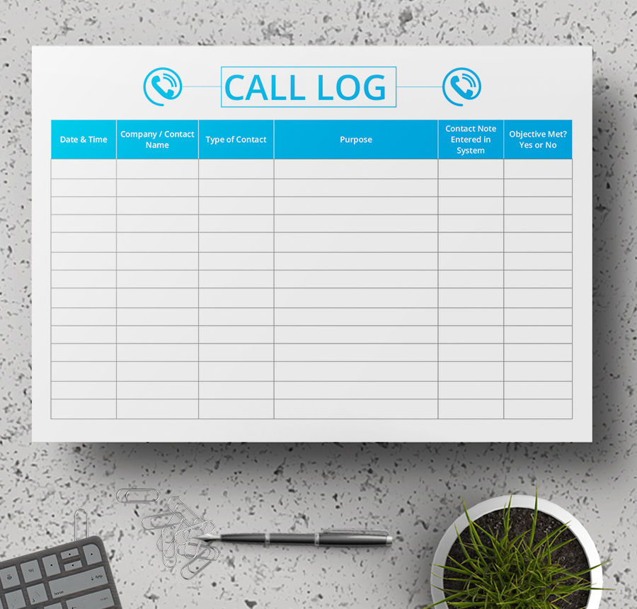 call log sample