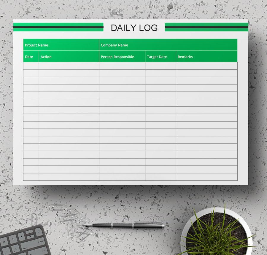 daily log sample
