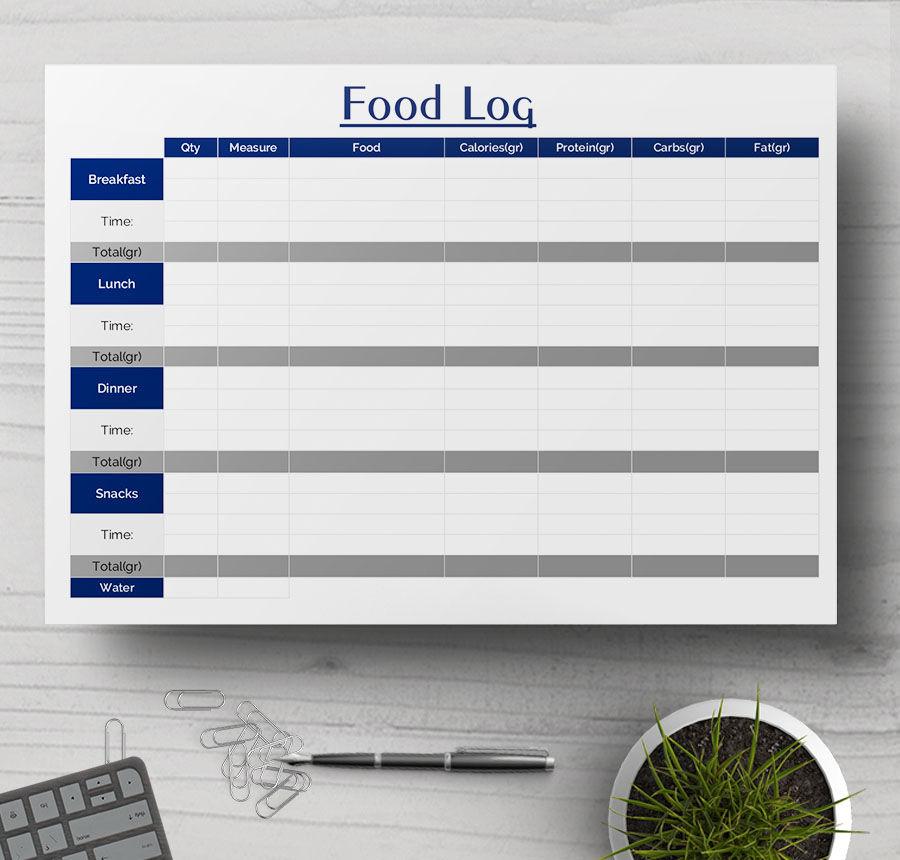 food log sample