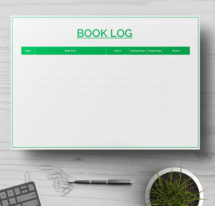reading log sample