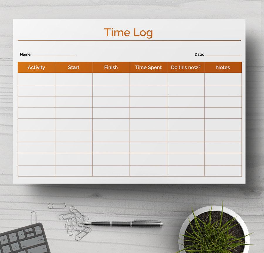 time log sample