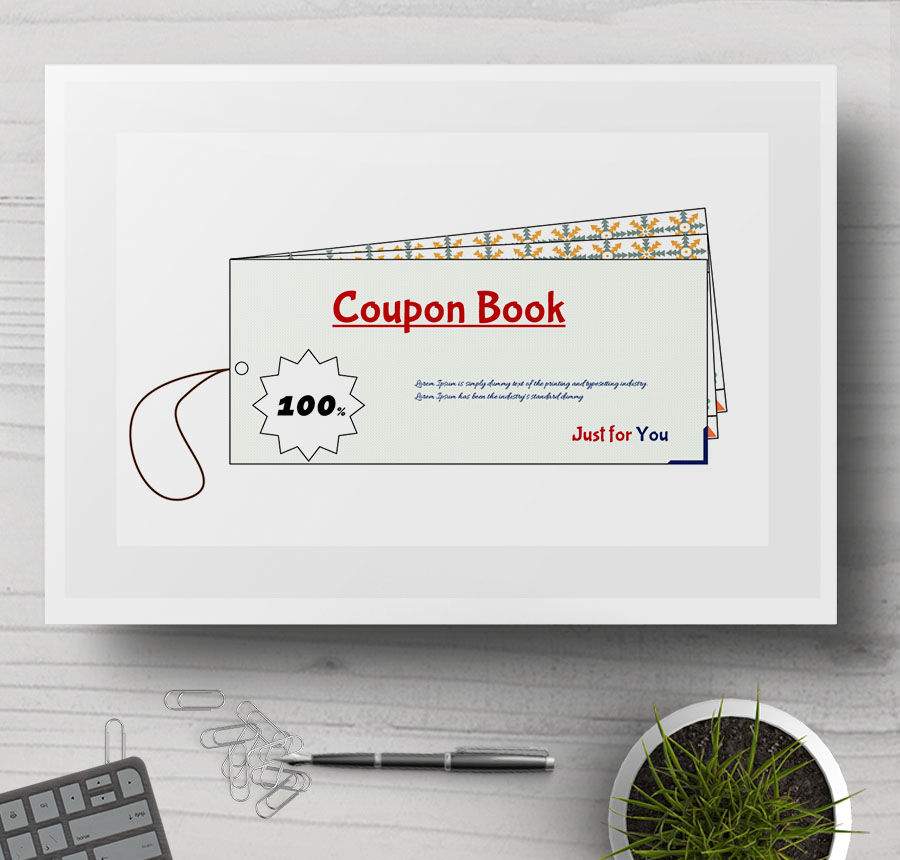 coupon book sample