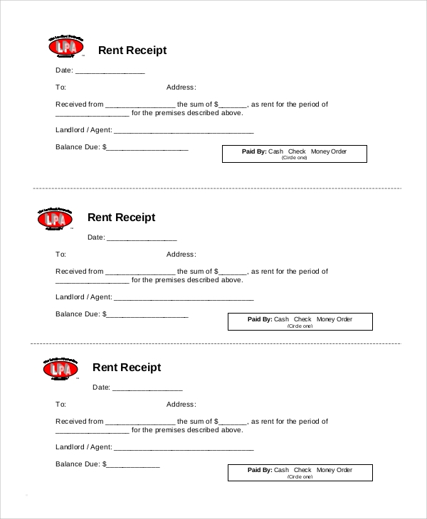 Sample Rent Receipt 6 Documents in PDF – Sample Official Receipt