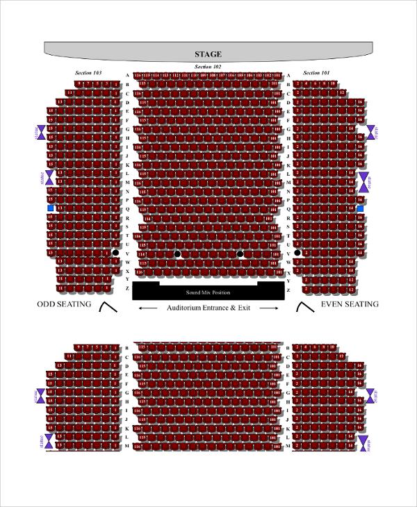 hall main floor seating chart
