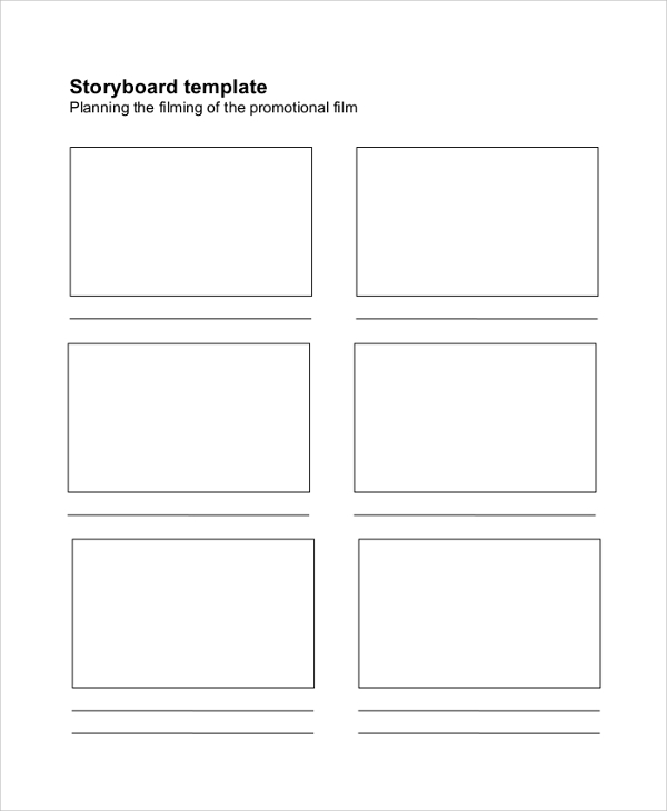 Blank Storyboard Sample