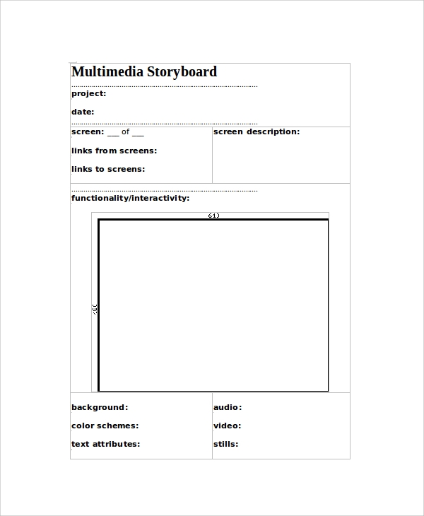Sample Multimedia Storyboard