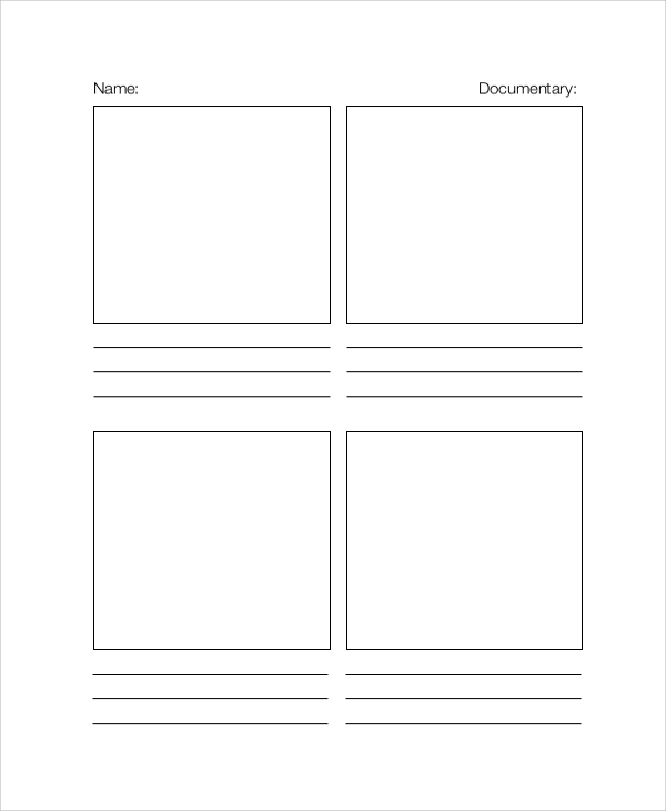 Sample Documentary Storyboard