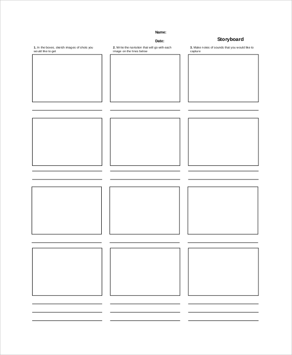 Sample Storyboard 22 Documents In Pdf Word