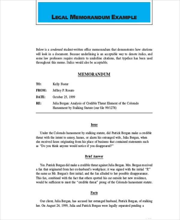 legal memo Legal memo template very important and very useful element which each and every individual needs and this subject is a very common but very less people actually have correct knowledge about it.