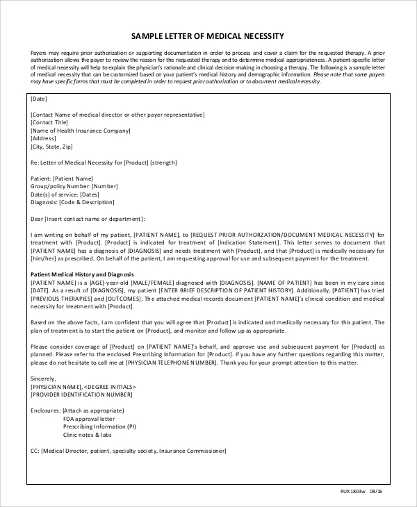 Sample Medical Treatment Authorization Letter | Medicalassistant.Us