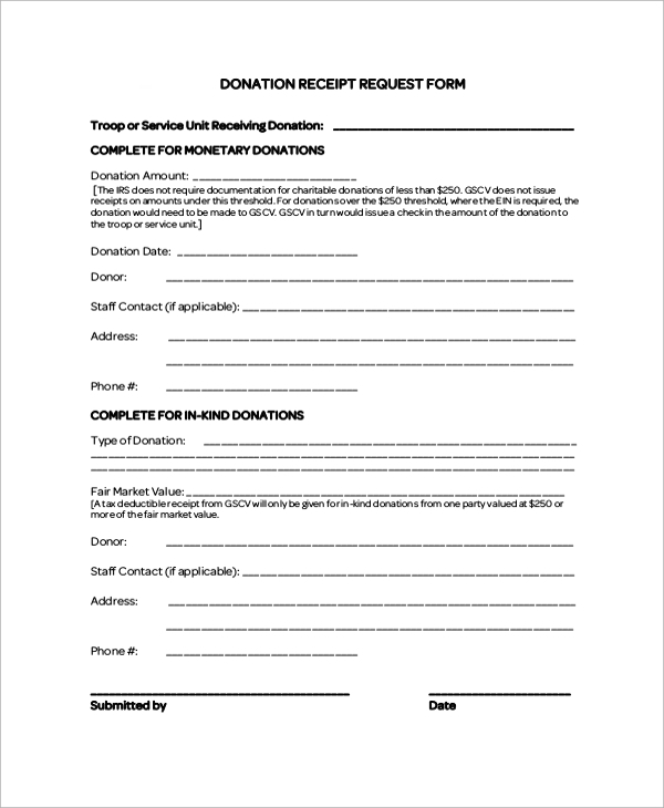 sample donation receipt letter 7 documents in pdf word