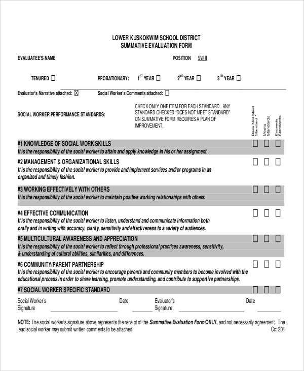 Sample Work Performance Evaluation - 6+ Documents In Pdf