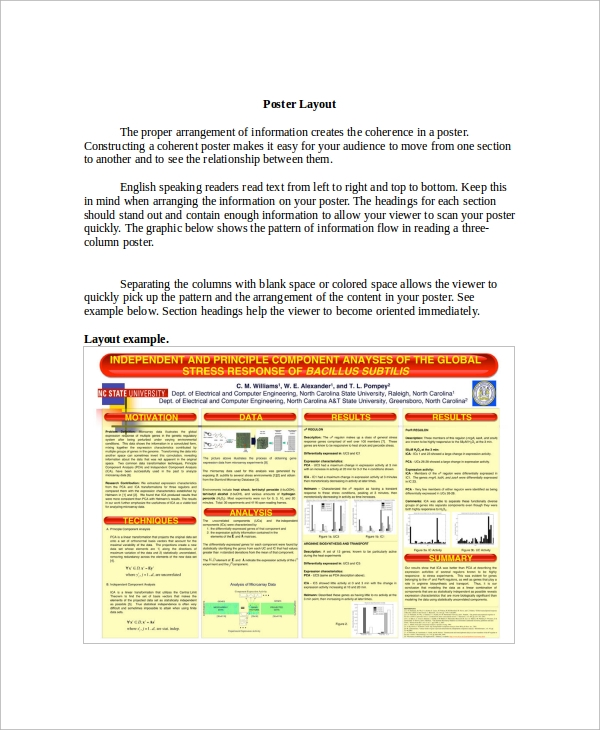sample research poster layout