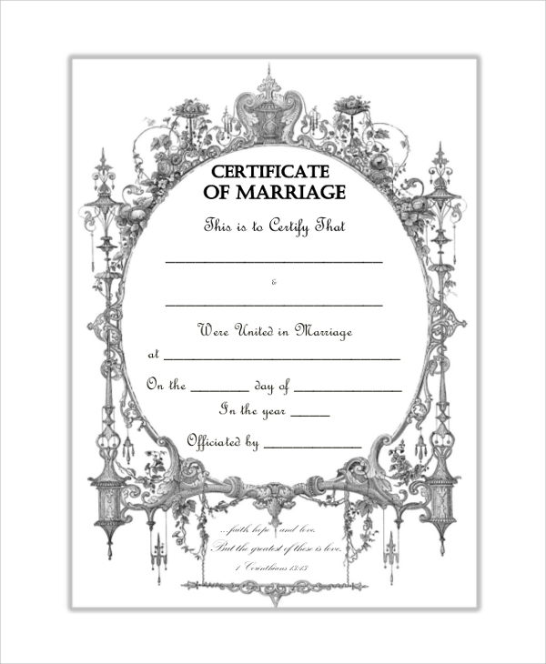 FREE 8+ Sample Blank Certificate Templates In PDF