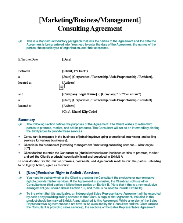 Management Consulting Agreement Consulting Retainer Agreement