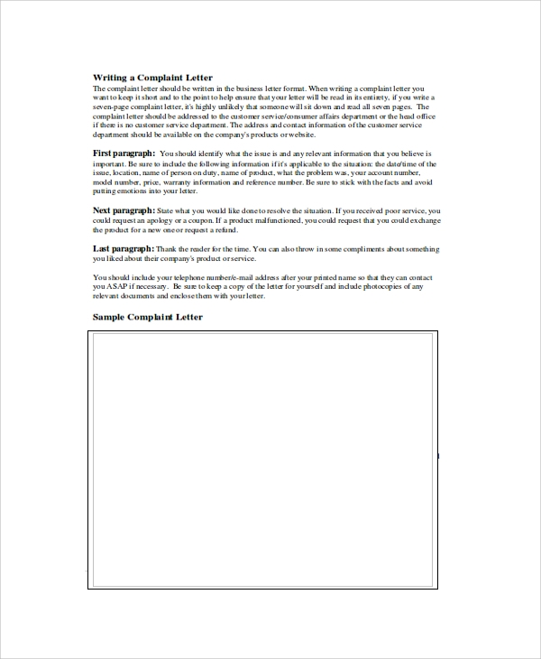 Sample Letter Format   Documents In Pdf Word