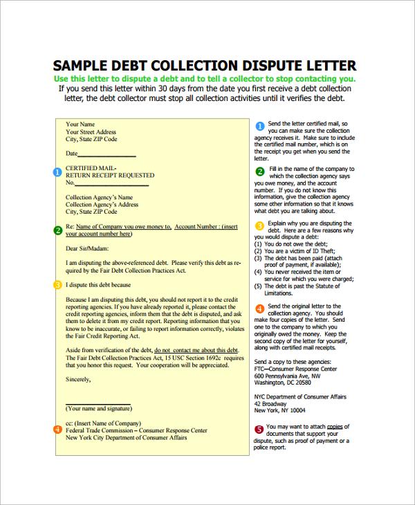 dispute letter format