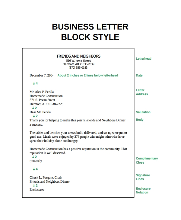 Sample Letter Format 21 Documents in PDF Word – Sample Basic Letter Format