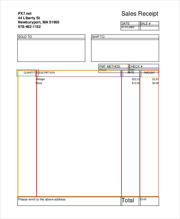 Sample Sales Receipt 6 Documents in PDF WORD – Sample Sales Receipt