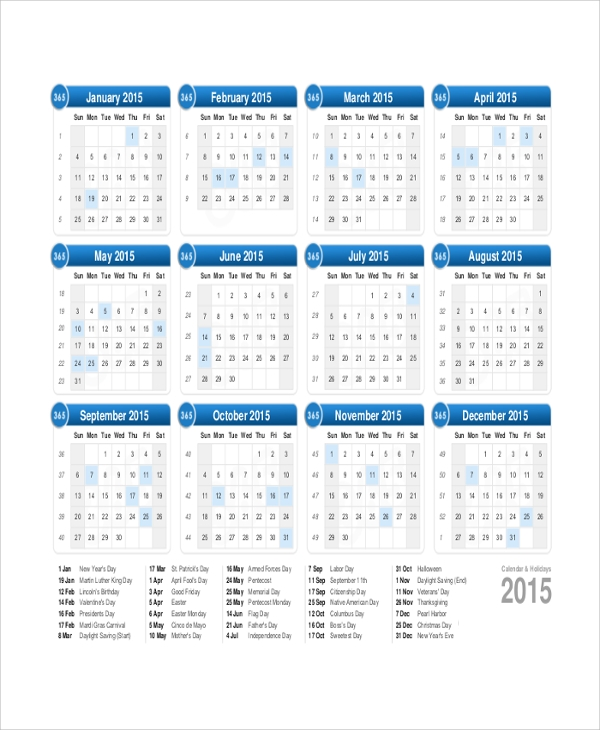 Best Sample Yearly Calendar Contemporary Resume Samples