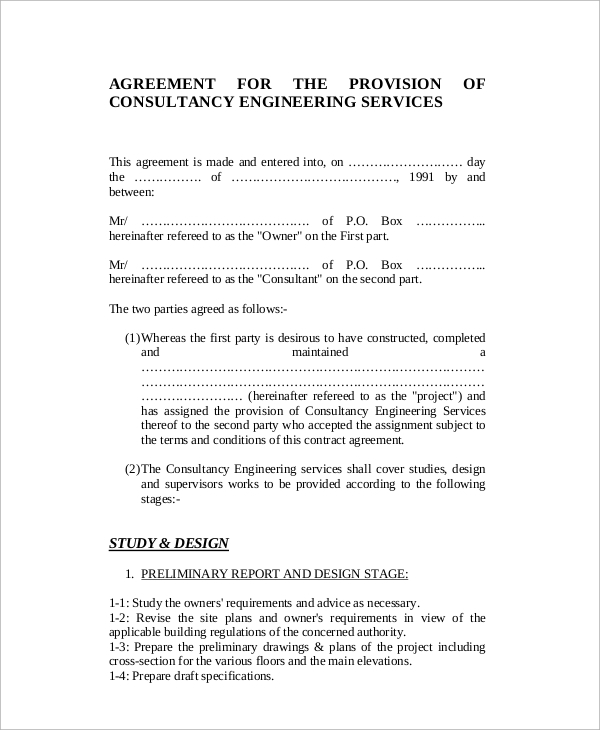 8 standard consulting agreement samples sample templates for Marketing consultant contract template