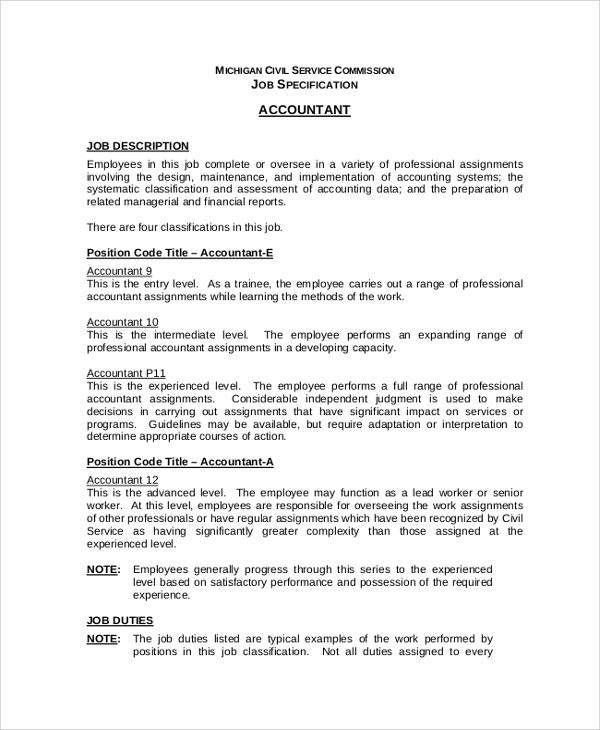 accounting job description - solarfm.tk