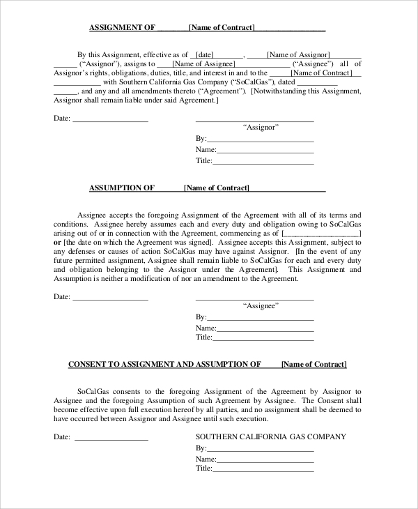 sample contract form