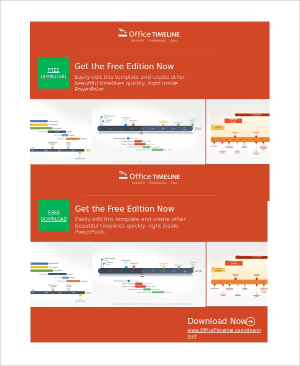 powerpoint monthly timeline