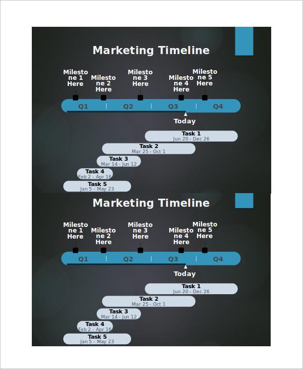 powerpoint marketing timeline