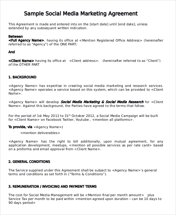 13 Marketing Consulting Agreement Samples Sample Templates