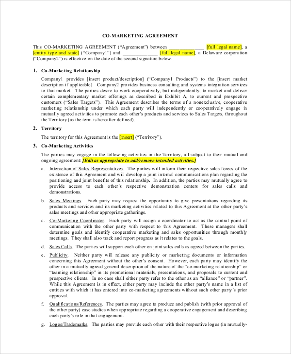 Sample Marketing Consulting Agreement - 5+ Documents In Pdf