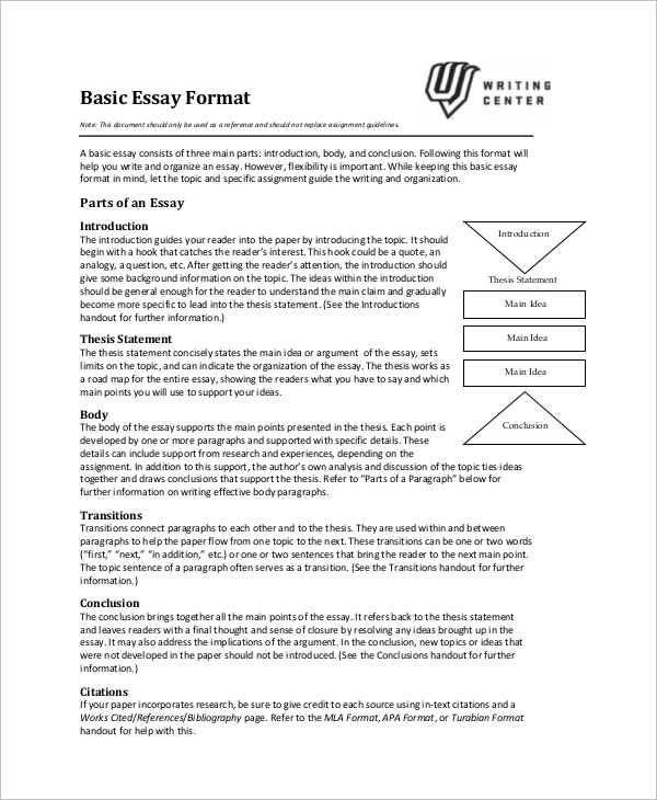 introduction for essay format
