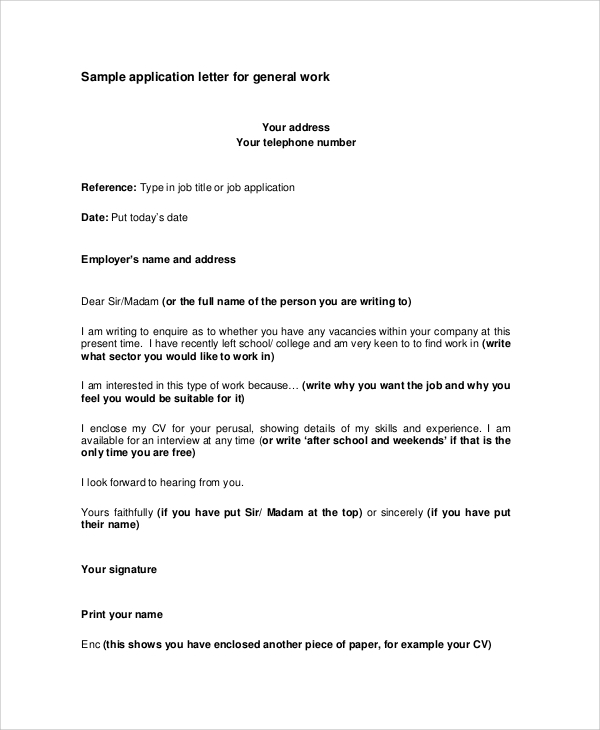 Job Application Letter Sample In Malaysia