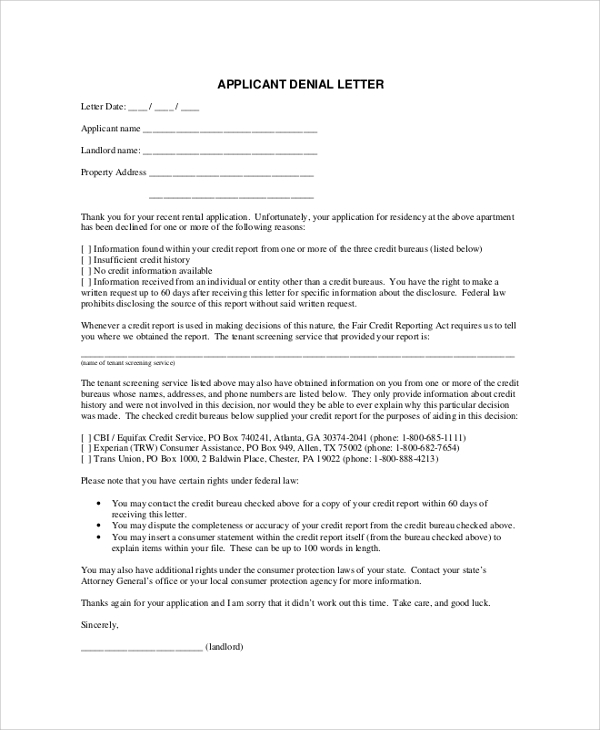 Sample Application Letter   Examples In Pdf Word