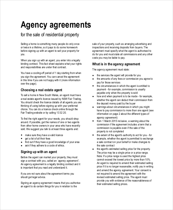 Sample Agreement   Examples In Pdf