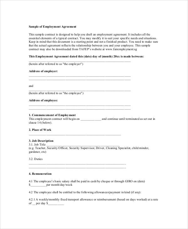 20+ Sample Agreements | Sample Templates