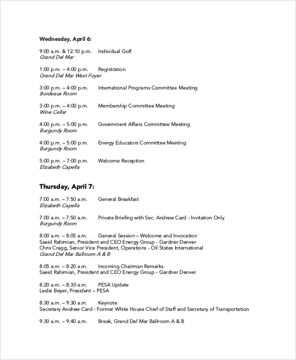 Sample Meeting Agenda - 20+ Examples in PDF, Word