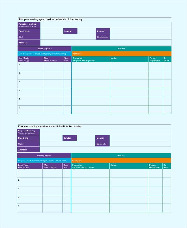sample leadership meeting agenda