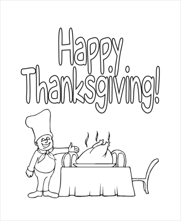 printable thanks giving coloring page