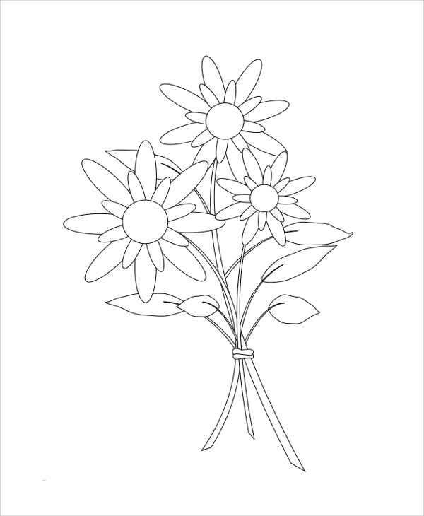 printable flower coloring page