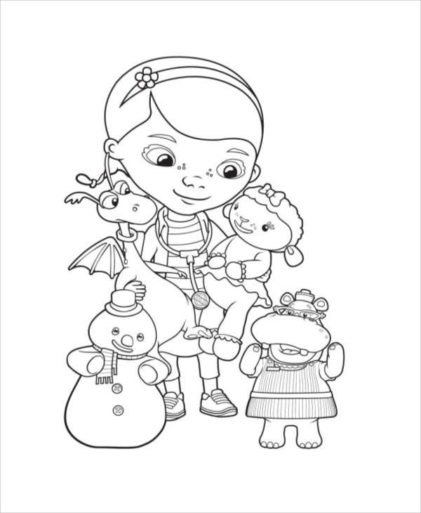 printable mcstuffins coloring page