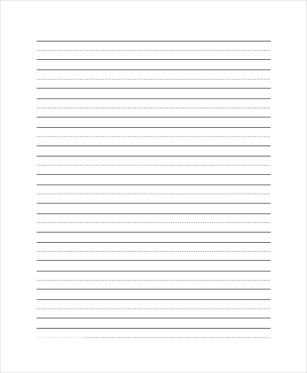 Penmanship Lined Paper Sample  Printable Lined Paper
