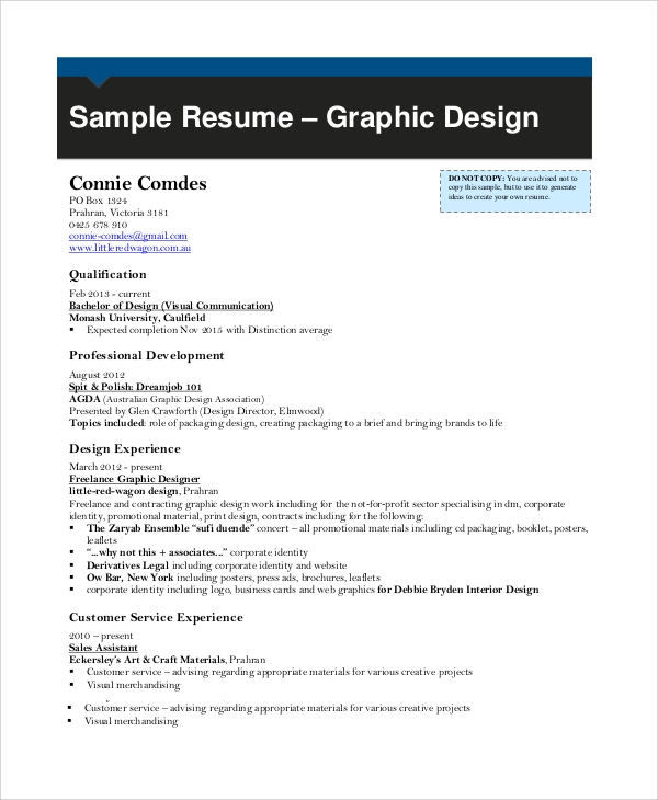 sample resume 9 examples in word pdf