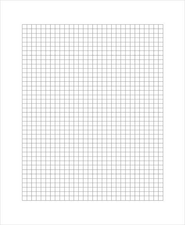 Sample Printable Graph Paper   Examples In Pdf Word Excel