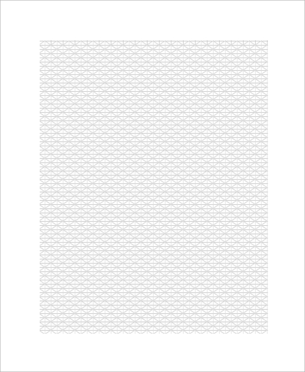sample triangular graph paper