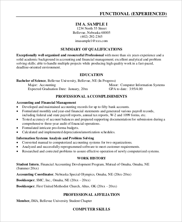 customer service experience resume