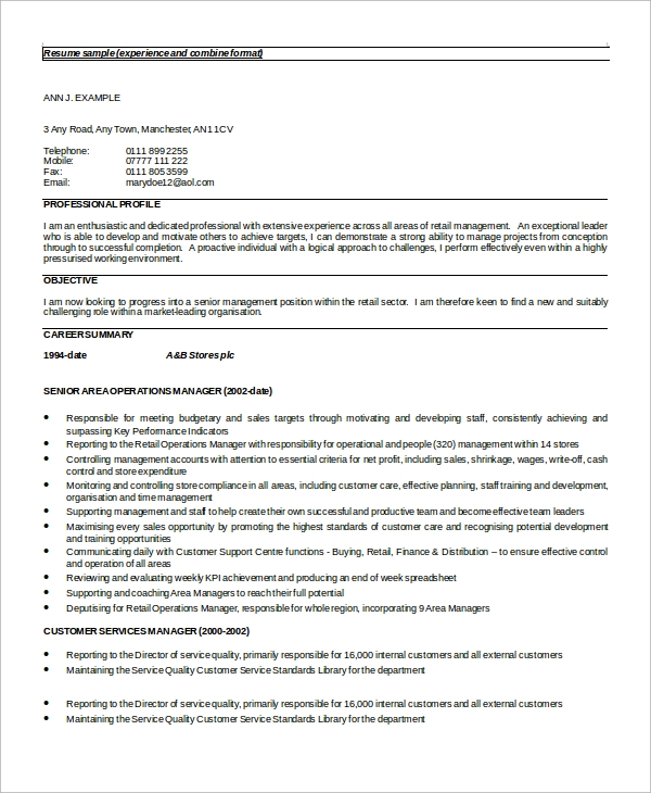 sample customer service resume 8 examples in word pdf