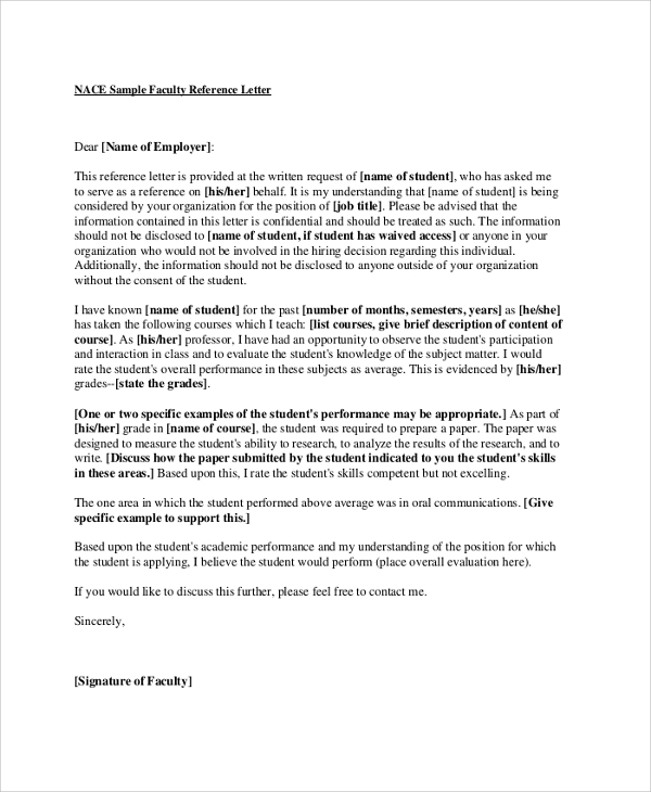 recommendation letter faculty position