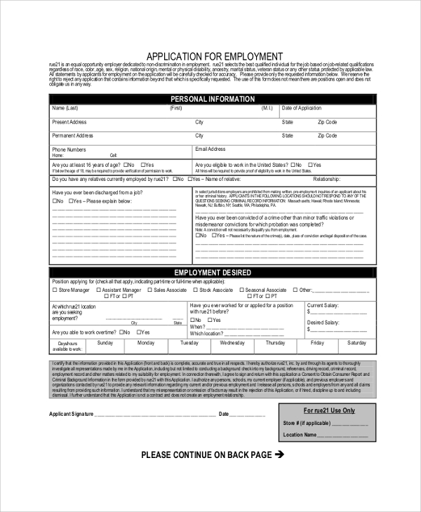 Target Job Application - 7+ Examples In Pdf, Word